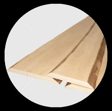 Csomómentes égerfa falburkolat, kérges, szélezetlen, 22x150-300mm