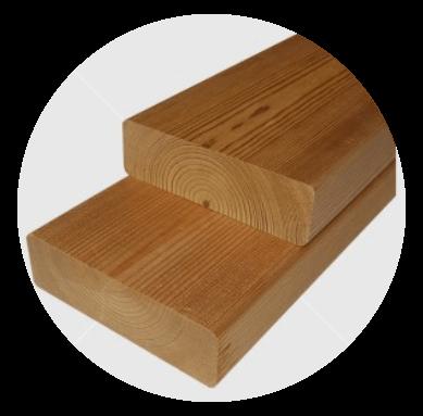 Csomós hőkezelt (thermowood) finn erdeifenyő padléc 27x92mm