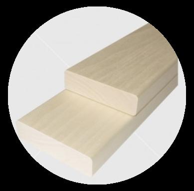 Csomómentes finn nyárfa padléc 21x90mm