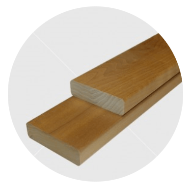 Csomómentes hőkezelt (thermowood) finn nyárfa padléc 22x80mm
