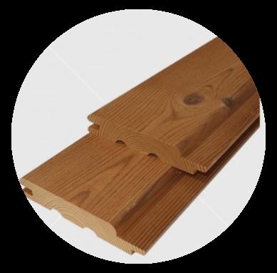 Csomós hőkezelt (thermowood) finn erdei fenyő lambéria 15x93mm, szálcsiszolt