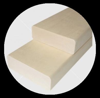 Csomómentes finn nyárfa padléc 28x90mm