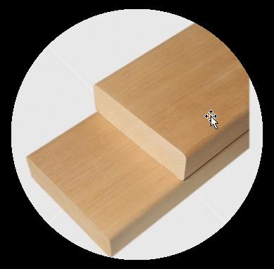 Csomómentes égerfa padléc 28x90mm