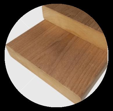 Csomómentes finn hőkezelt (thermowood) nyárfa padléc 28x120mm
