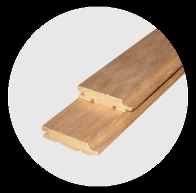 Csomómentes hőkezelt (thermowood) nyárfa lambéria 15x68mm
