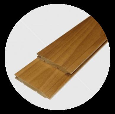 Csomómentes hőkezelt (thermowood) nyárfa lambéria 12x90mm