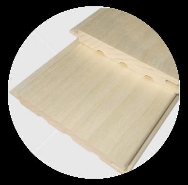 Csomómentes nyárfa lambéria 15x120mm