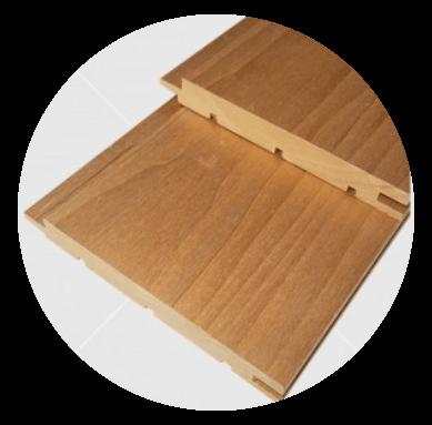 Csomómentes hőkezelt (thermowood) nyárfa lambéria 15x120mm